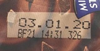 Dot-Matrix-Code auf Becher